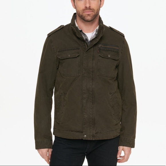 Rare Mens Levis Military Field Jacket Green Xxl Boutique